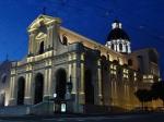 Cagliari Santuario di Bonaria veduta Notturna